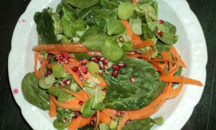 Cuisine en compagnie, Salade verte à la grenade