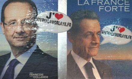 Les affiches de la campagne présidentielle à Lamorlaye