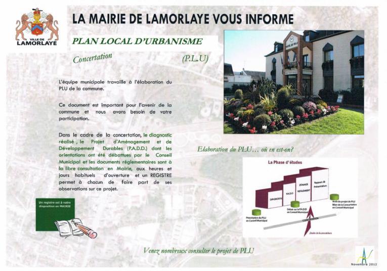 La mairie de Lamorlaye vous informe