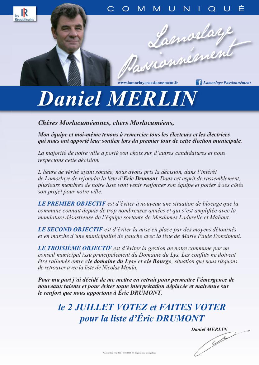 Communique Daniel Merlin Eric Drumont 2017