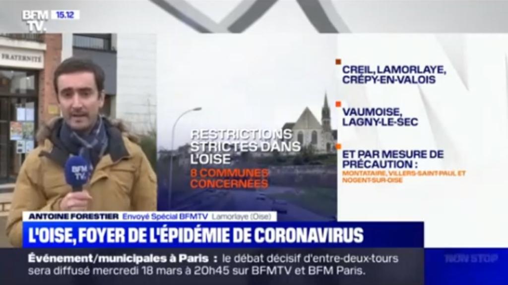 Lamorlaye - reportage foyer coronavirus bfm tv