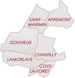 Résultats par ville des élections cantonales 2011 – Oise (60) – Picardie, Canton de Chantilly