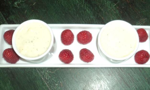 Crème au chocolat blanc & basilic