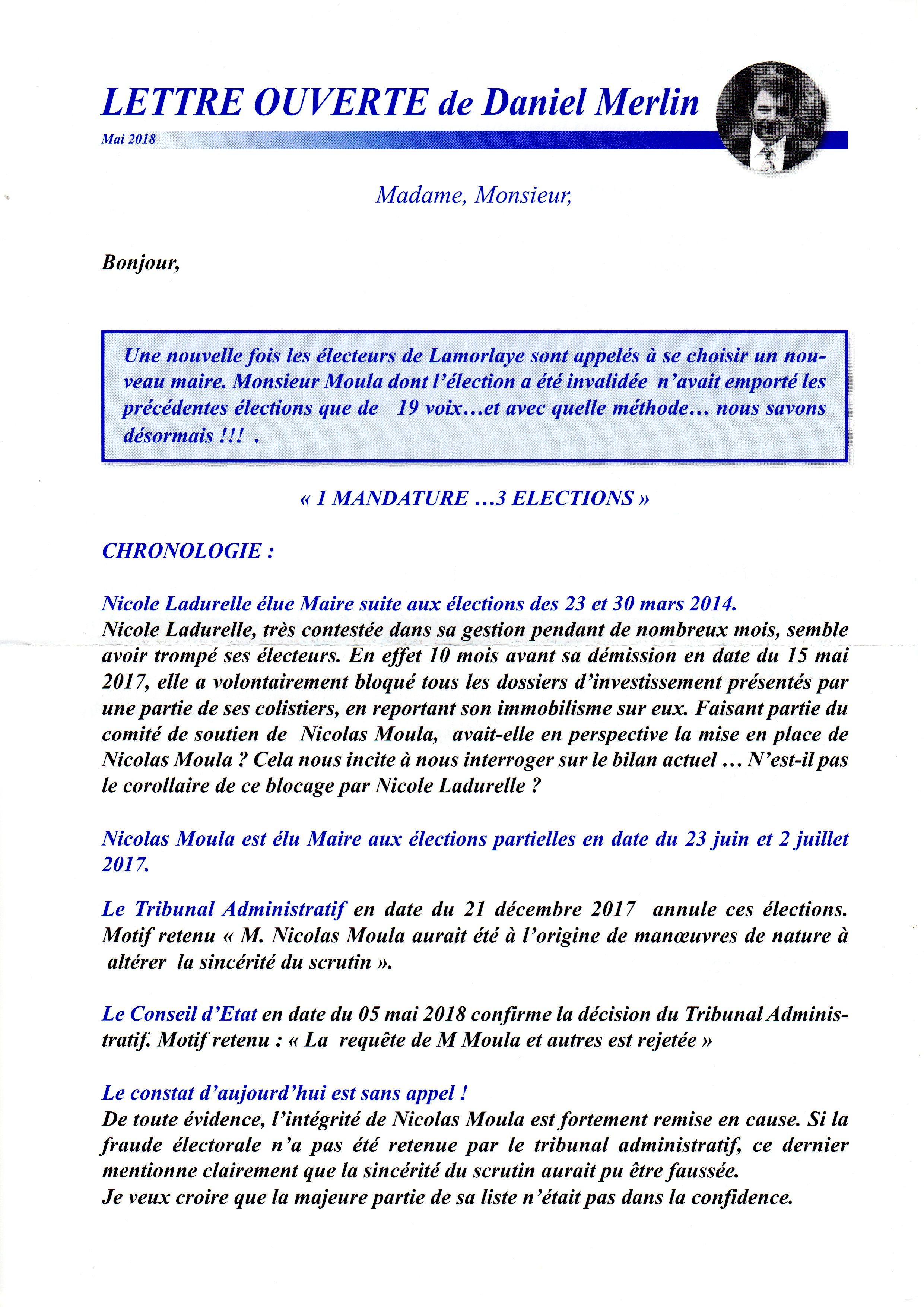 Daniel Merlin - Lettre ouverte 201805 p1