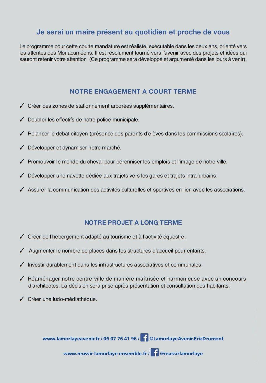 Lamorlaye Avenir Liste d'union elections municipales 2018 p2