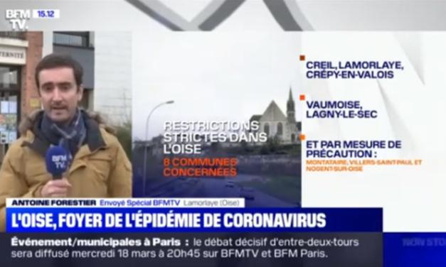 L'Oise, foyer de l'épidémie de coronavirus